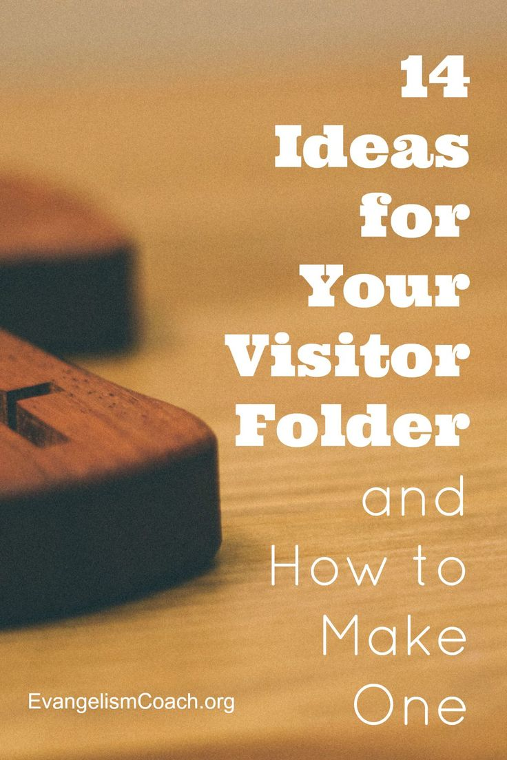 14 Different Ideas of what can be in a Church Welcome Packet