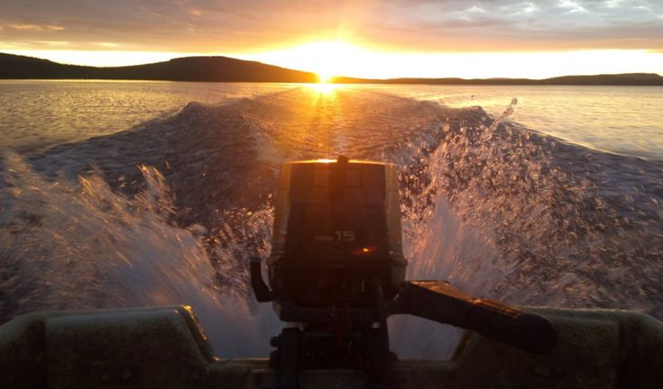 Boating in the Midnight Sun on Miekojärvi Lake in Pello, Lapland