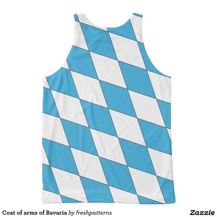 Coat of arms of Bavaria All Over Print Tank Top