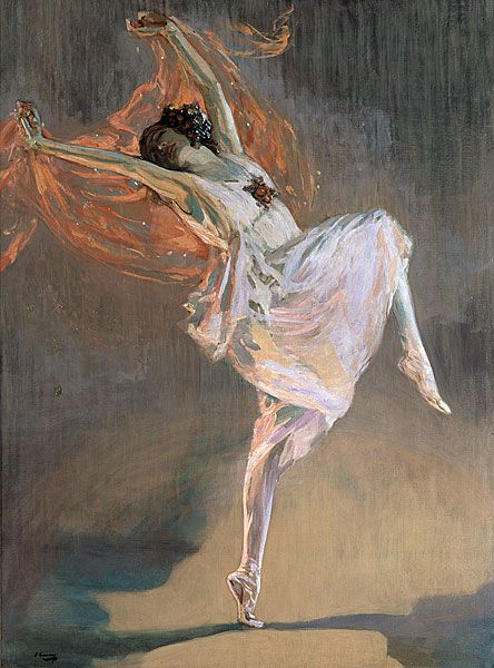 "Anna Pavlova - John Lavery.  On my Board ""Dance in Art"". Irit Volgel"