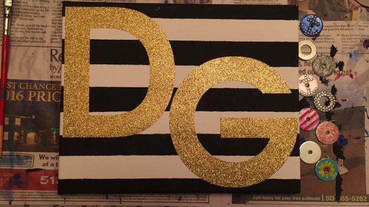 Easy craft! Just tape lines with masking or painters tape, paint the blank space black, then add DG stickers! Also fun little shout out to my chapter, gamma rho, peep the washers  I love the weirdness that is my school. #deegee #deltagamma #wittenberg