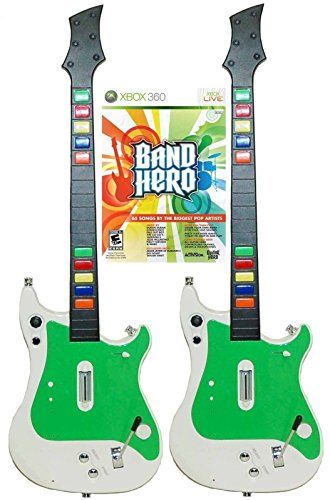 Xbox 360 GUITAR HERO 2x Wireless Guitar Controllers  Band Hero Video Game Bundle rock music band * You can get more details by clicking on the image.