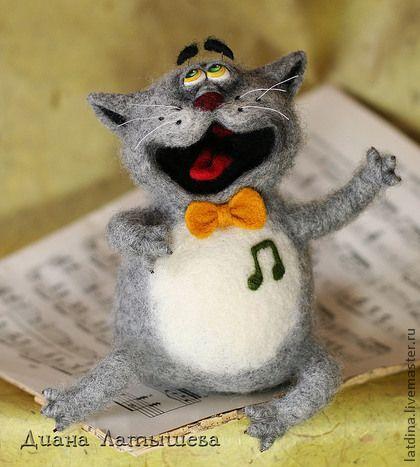 Игрушки животные, ручной работы. Ярмарка Мастеров - ручная работа Оперный кот Мяучано. Handmade.