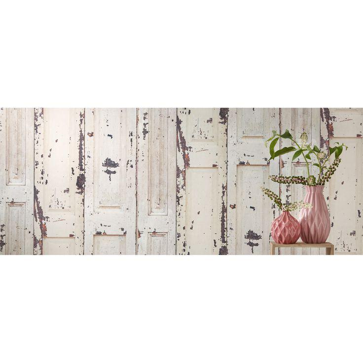Door een behang met print geef je je kamer meteen een andere uitstraling! #woonkamer #decoratie #woonaccessoires #behang #kwantum