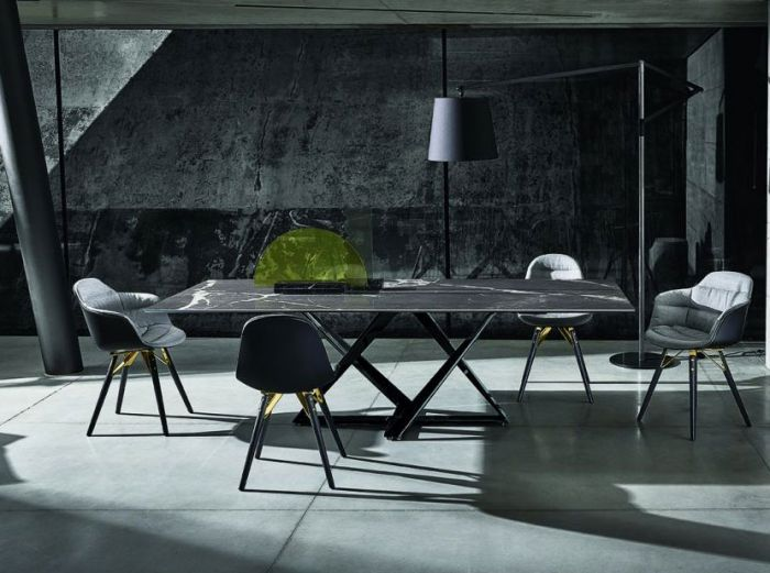 Contemporary Bontempi Millennium Marble Dining Table