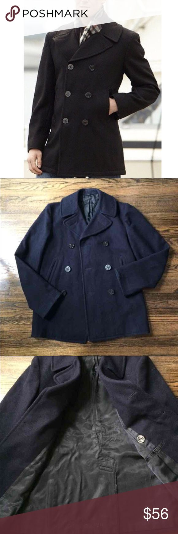 Navy Army Surplus Peacoat Awesome condition. Gently worn. Army Surplus Peacoat. Fits a M. Navy colored Peacoat. Jackets & Coats Pea Coats