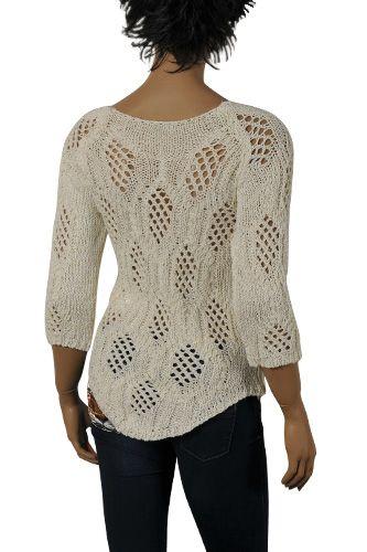 Длинные женские дизайнерская одежда | Гуччи женские хлопок свитер в Белый #74