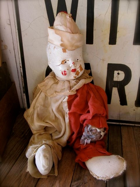 Halloween Came A Little Early: Vintage Composition Clown Doll #etsyVintage Composition, Composition Clowns, Dolls Etsy, Clowns Dolls