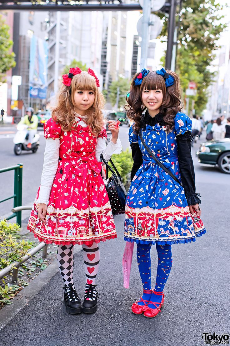 "Harajuku Lolitas in Angelic Pretty ""Star Night Theater"" Dresses"