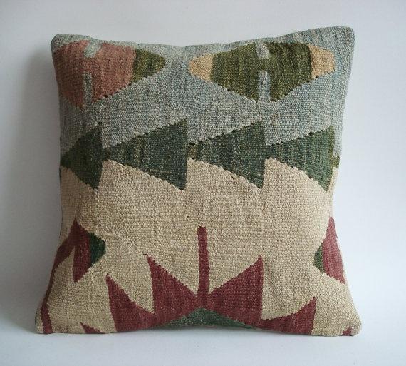 Throw Pillows Homesense : Sukan / Hand Woven Turkish Kilim Pillow Cover 16x16 by sukan, USD149.95 HOMESENSE ~ Decor Ideas ...