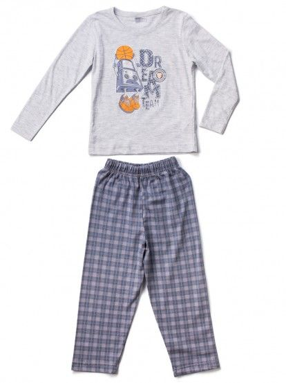 Παιδικές Πιτζάμες για Αγόρια VIENETTA SECRET - γκρι μελανζέ