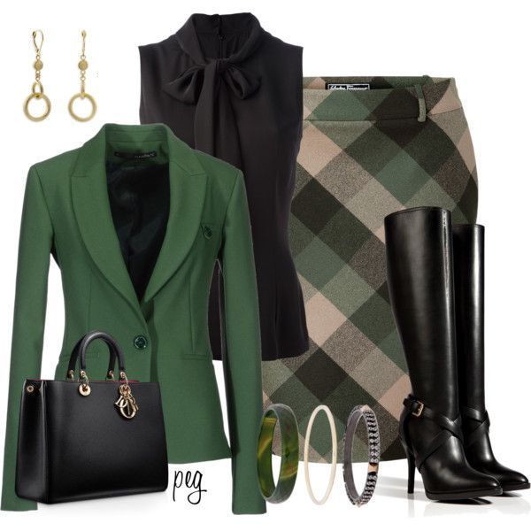 Dolce & Gabbana blouses, Annarita N. blazers and Salvatore Ferragamo skirts.