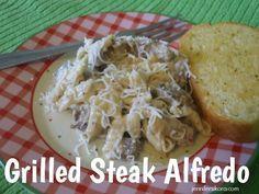 Grilled Steak Alfredo - YUMMY!