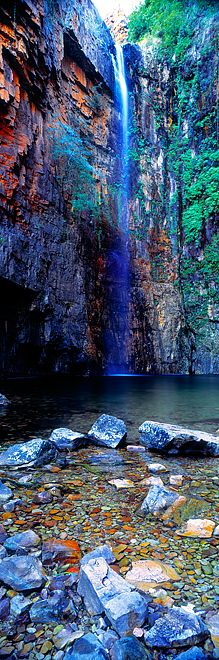 Waterfall Emma Gorge North Western Australia by Christian Fletcher