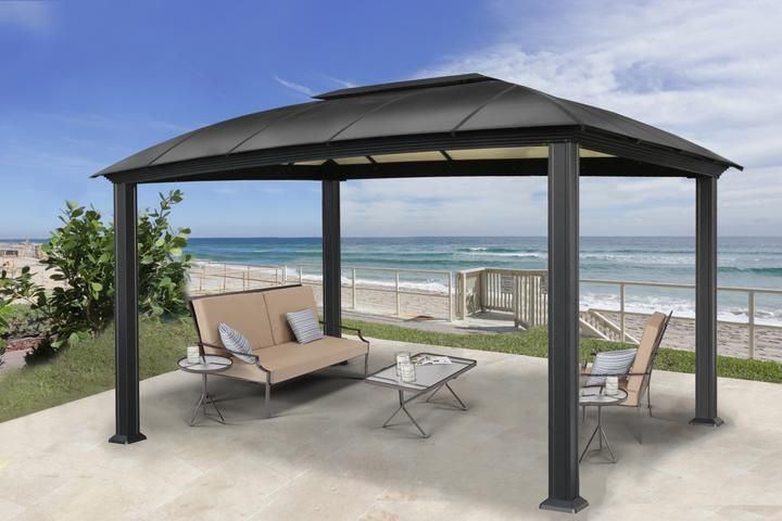 Cambridge 12x16 Hard Top Gazebo Gz3dxl With Images Patio