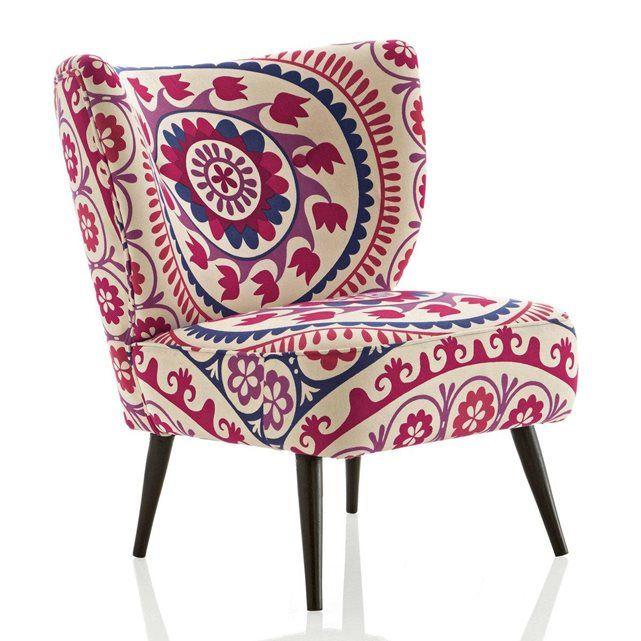 fauteuil franck motif suzani am pm prix avis notation livraison dossier galb et assise. Black Bedroom Furniture Sets. Home Design Ideas
