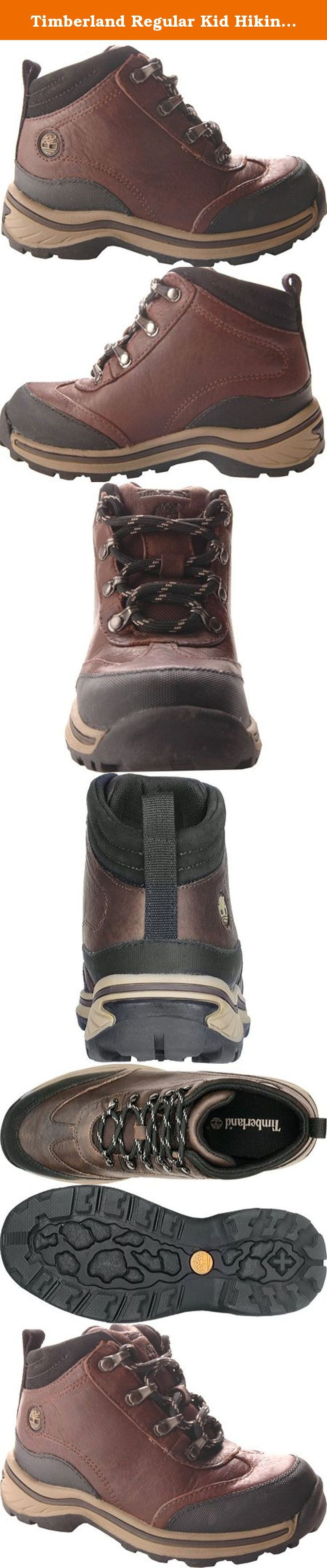 Timberland Regular Kid Hiking Boot (Toddler/Little Kid/Big Kid),Brown Smooth,5.5 M US Big Kid. Padded collar for comfort. Rustproof hardware for durability. Thick, rugged non-marking rubber outsole for.
