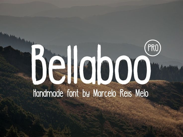 Introducing Bellaboo PRO version, now with UPPERCASE and lowercase characters we cover all English characters and some special extra characters of Spanish, German, Portuguese and Swedish. We are really proud to present this font to you guys and we hope you make awesome stuff with it! Bellaboo is a v