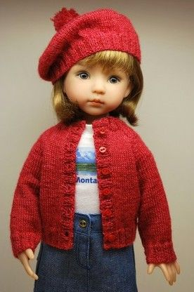 DWD Free Pattern 16 – Easy Cardigan and Beret for Dianna Effner's Little Darling Doll and Betsy McCall by Tonner: 1) http://www.dollswestdesigns.com/uploads/3/4/9/1/34910460/dwd_free_pattern_16.pdf 2) http://web.archive.org/web/20150217055831/http://www.dollswestdesigns.com/PDF_Files/DWD_Free_Pattern_%2316.pdf