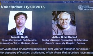 Winners of the Nobel prize in physics 2015 Takaaki Kajita and Arthur B McDonald for their key contributions to the experiments that demonstrated that neutrinos change identities. .