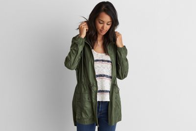 AEO Packable Rain Jacket  by  American Eagle Outfitters | Cool outsider: Style isn't in the wearing, it's in the doing. Layer it your way, and transition through the seasons like a pro. Shop the AEO Packable Rain Jacket  and check out more at AE.com.