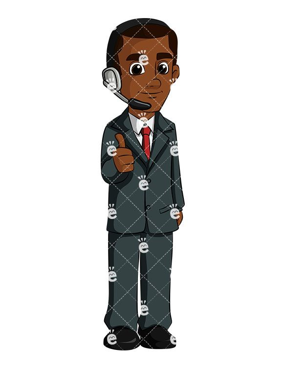 A Black Businessman Wearing Headsets Giving The Thumbs Up Signal:  #accountexecutive #accountant #accounting #achiever #affiliate #african #african-american #american #assistant #banker #black #blessed #boss #business #businessdirector #businessman #callcenter #callnow #callus #capitalist #career #cartoon #celebrate #celebrating #CEO #character #cheerful #clipart #closedeal #closingdeal...