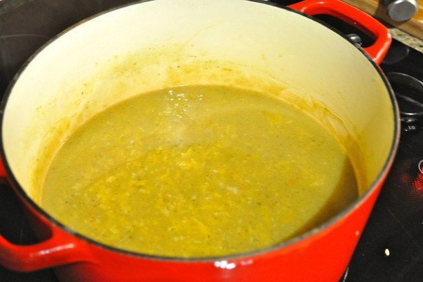 Plantain Soup in Dutch Oven
