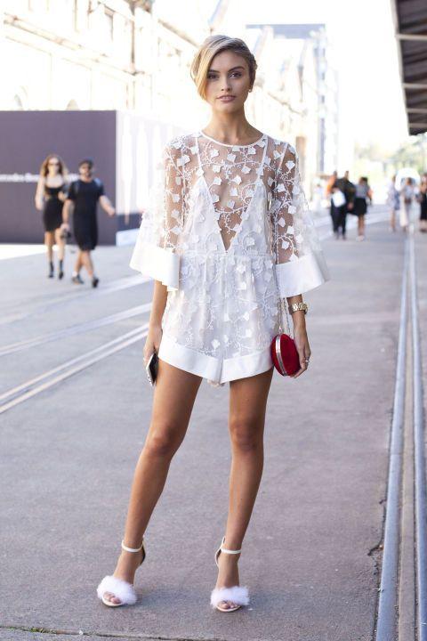 yazlık beyaz mini elbise kombinleri 2016