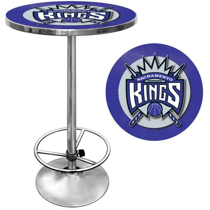 Trademark Commerce NBA2000-SK Sacramento Kings NBA Chrome Pub Table