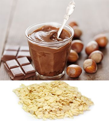 nutty for Nutella Ingredients: 2 frozen bananas 2 tbsp Nutella 2 tbsp slivered almonds  Directions:  Add the banana, then the Nutella to the machine.  Sprinkle with Nutella