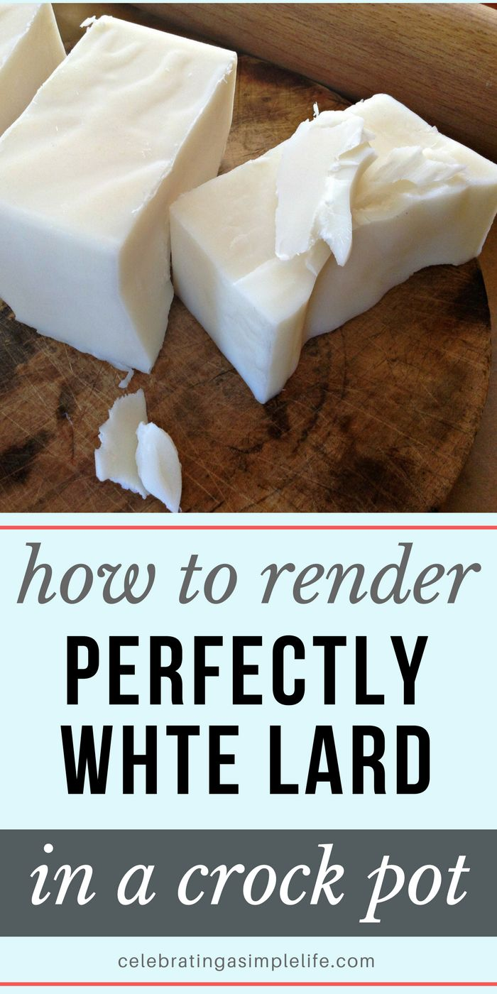 how to render lard in a crockpot, and why it's actually a super healthy fat choice!