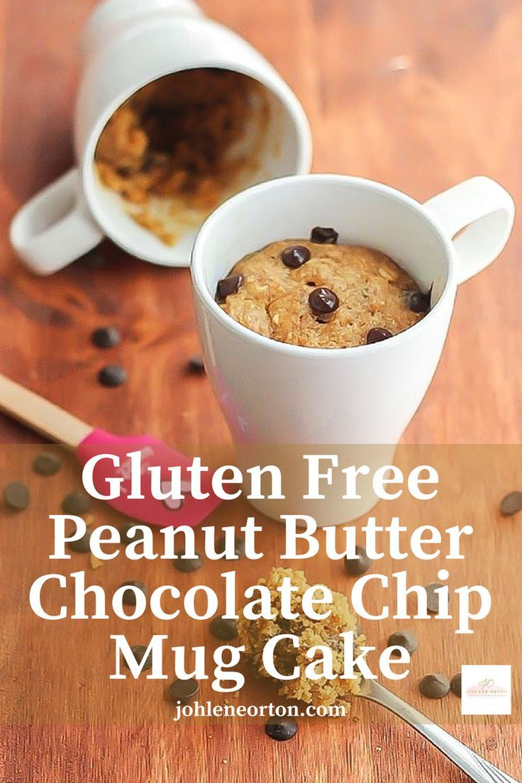 Gluten Free Peanut Butter Chocolate Chip Mug Cake. This recipe is so easy to make and healthy too!