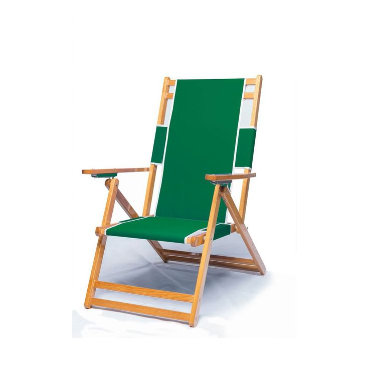 Heavy Duty Commercial Grade Oak Wood Beach Chair