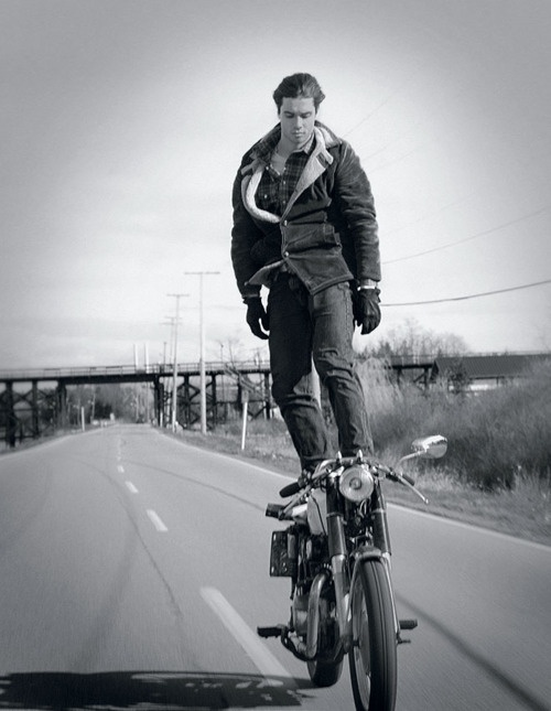motorcycle riding - standing on top of bike!