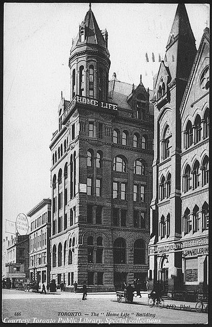 "Toronto. - The ""Home Life"" Building, Ontario    Creator: Unknown  Date: 1910"