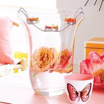 Clearly Creative™ Elegance Tealight Holder Vase. Spring. Wedding. Bridal Shower. Easter. Baby Shower. Birthday. Garden.