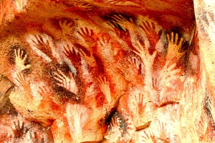 Man Cave In Spanish : Yr old cave paintings in borneo indonesia art
