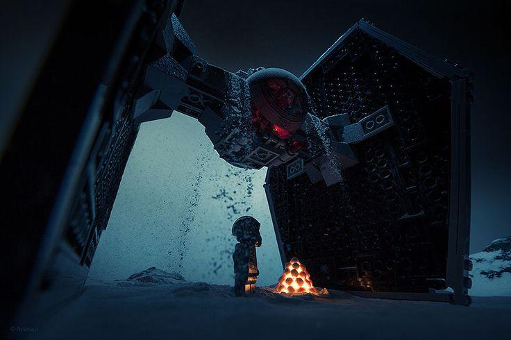 Des scènes de films connus recréées avec des legos par un photographe.