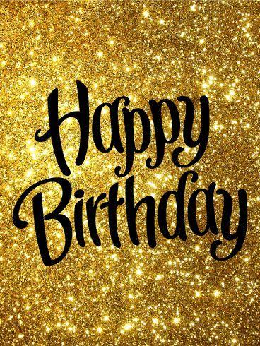 Happy Birthday Gold Glitters