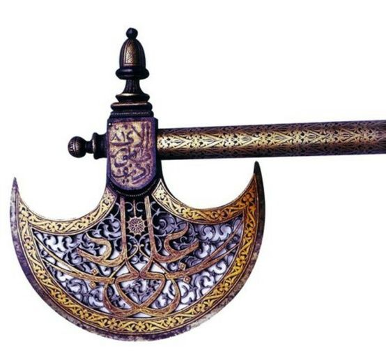 Ottoman battle-ax, 16th century, Istanbul, Museum of Turkish and Islamic Art.