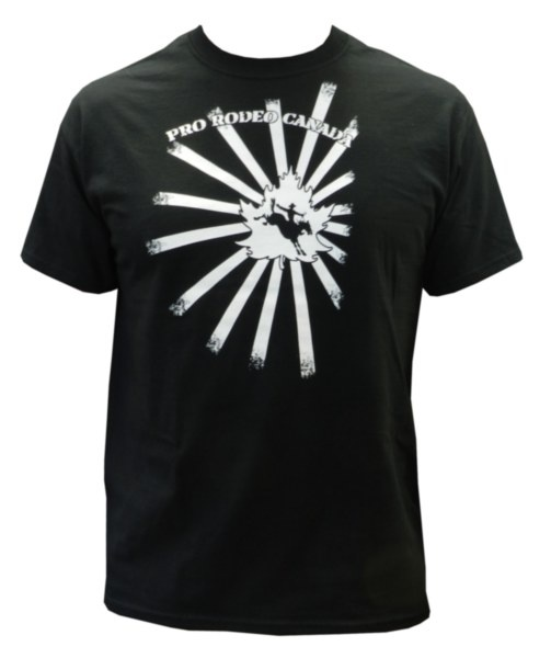 Mens CPRA Tee - Black tee with white CPRA screenprint on front. 100% Pre-Shrunk Cotton