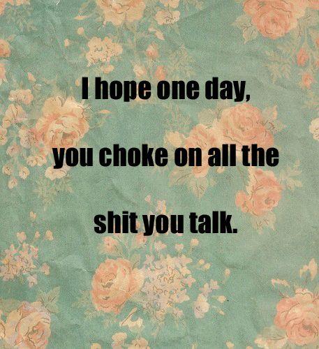 choke it baby!