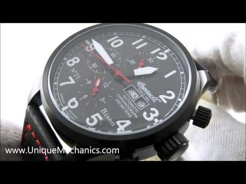 Ingersoll Watch Bison No. 21 Automatic Chronograph Stainless Model:IN1615BBK
