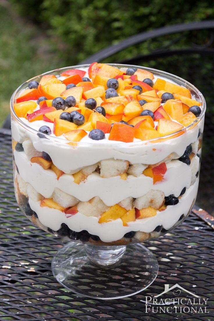 Summer Peach Blueberry Trifle