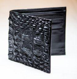 Black Hornback Alligator Wallet by John Allen Woodward
