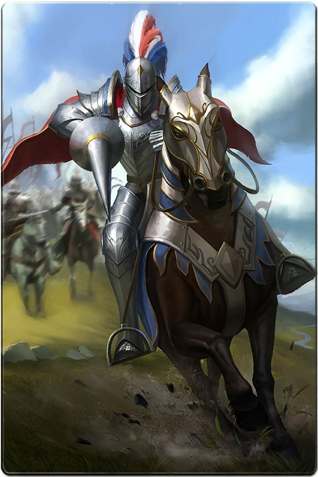Paladin Mounted Knight Lancer Cavalry Charge.
