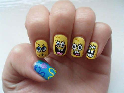 Best 25 cartoon nail designs ideas on pinterest nail art pics cartoon nail art designs naildesigns nailart prinsesfo Images