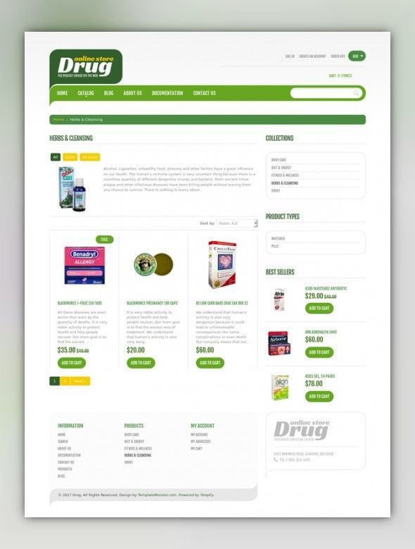 Drug Store Shopify Theme – #Drug #drugstore #Shopi…