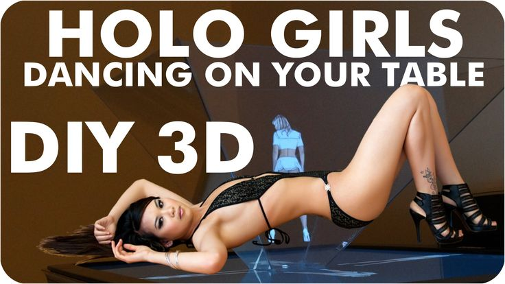 Do you want to see the sexy girls dancing on your table? You can make simple DIY hologram projector. For 42 inch television You need only: - 2 pieces of acry...