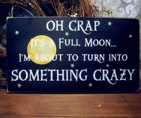 full moon madness Halloween Pinterest Jokes, Moon